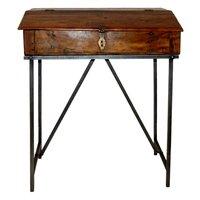 Belfast skrivbord - Vintage trä/metall