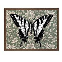 Tavla fjäril - Brun ram