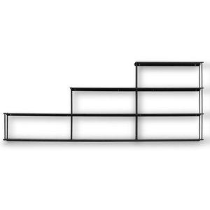 Elliot vägghylla trappan - Svart