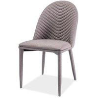 Shiloh stol - Metall/grå