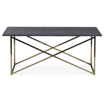 Paladium soffbord - Mässing / Äkta grå marmor