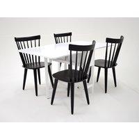 Sofiero matgrupp - Bord inklusive 4 st Orust stolar - Vit