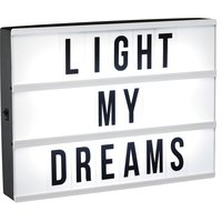 Chanda ledbox bordslampa med 90 st bokstäver/siffror