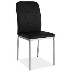 Whitney stol - Svart/krom