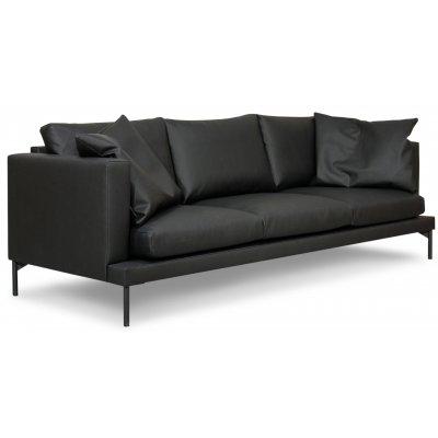 Davis 3-sits soffa - Svart (återvunnet läder)