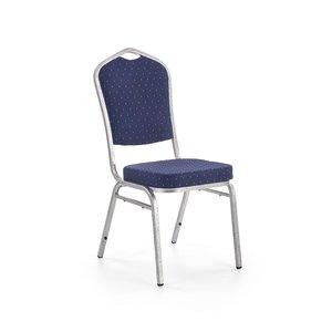 Camilla matstol - Blå/silver