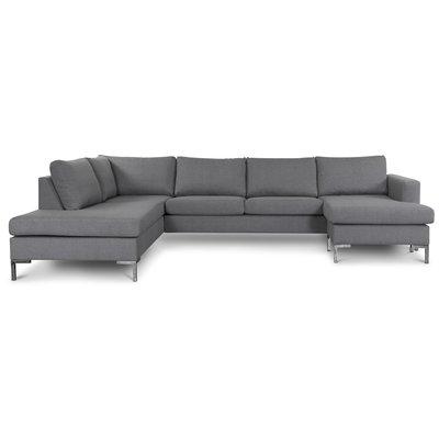 Nova U-soffa ljusgrått tyg - Vänster