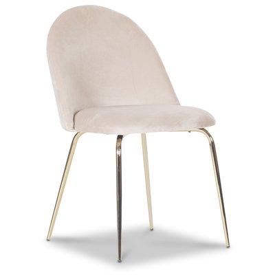 Plaza velvet stol - Beige / Mässing