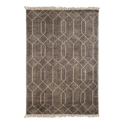 Handgjord matta Sergio - Grå