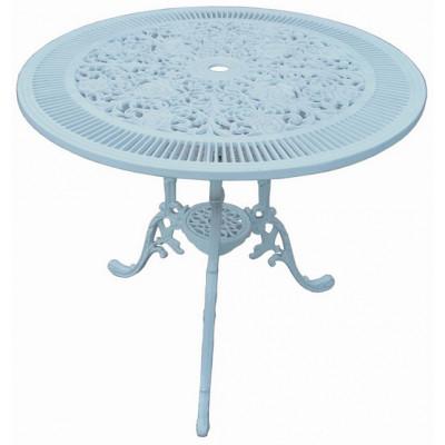Alfon Cafébord i gjuten aluminium - Vit