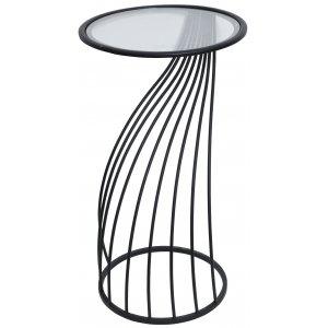 Cartier sidobord H 73 cm - Svart/Glas