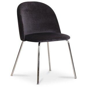 Tiffany velvet stol - Svart/Krom