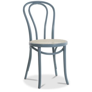 Stol No18 By Michael Thonet rottingsits - Pastellblå