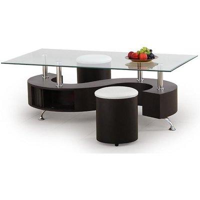 Meeting soffbord inklusive sittpuffar - Wenge