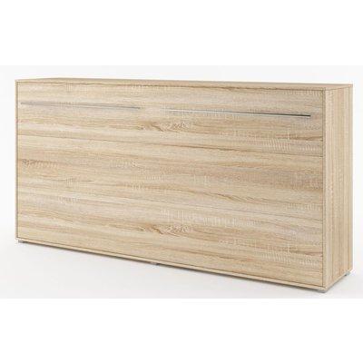 Sängskåp compact living Horisontellt (90x200 cm fällbar säng) - Ljus ek