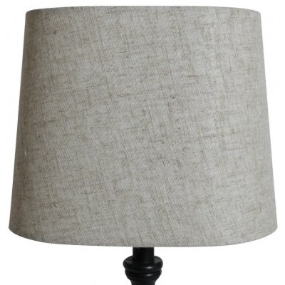 Oval lampskärm 27x18 cm - Beige (grovt linne)