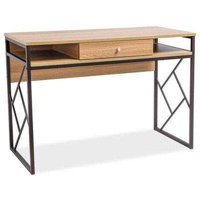 Skrivbord Avianna - Ek/mörkbrun