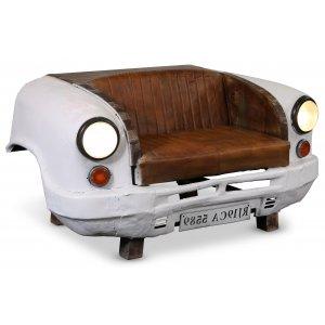 Bilsoffa 2-sits vintage - Metall/läder