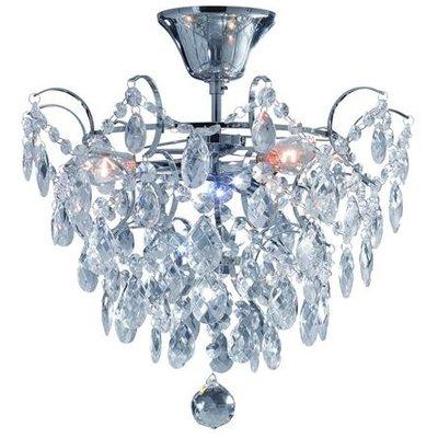 Rosendal Kristallplafond 3 - Krom/Kristall