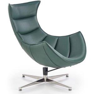 Ako designfåtölj - Grönt läder