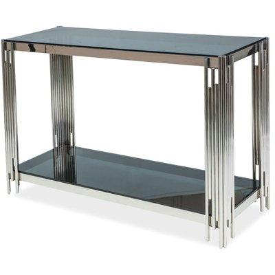 Bourne konsolbord - Krom/svart glas