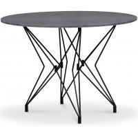 Zoo matbord Ø105 cm - Svart / Grå Marmor