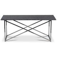 Paladium soffbord - Krom / Äkta grå marmor