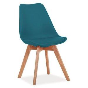 Jeremiah stol - Blå/ek