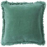 Chanda prydnadskudde 50x50 cm - Grön (Sammet)