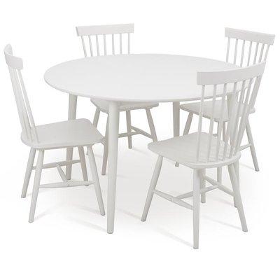 Rosvik matbord 120 cm - Vit
