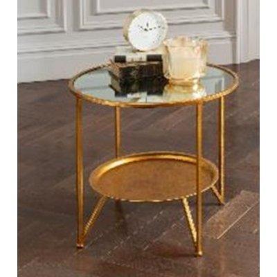 Basilika lampbord - Guld / Spegel