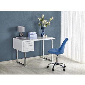 Fernanda skrivbord - Vit/krom
