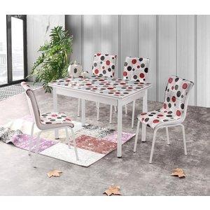 Kungsbacka matbord 110-170 cm - Vit/multi/Glas
