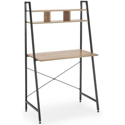 Perlie skrivbord - Sonoma ek/svart