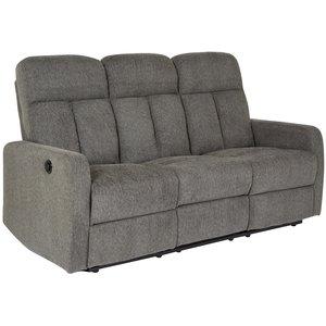 Dunbury 3-sits reclinersoffa (elektrisk) - Grå (Tyg)