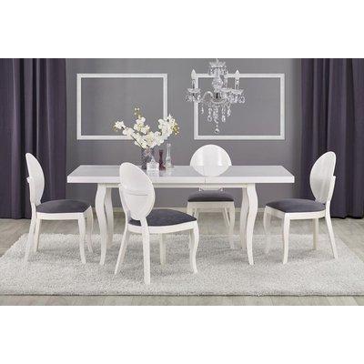 Ammie matbord 140-180 cm - Vit Högglans