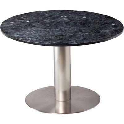 Next 105 runt matbord - Borstad stål / Granit (Svart)