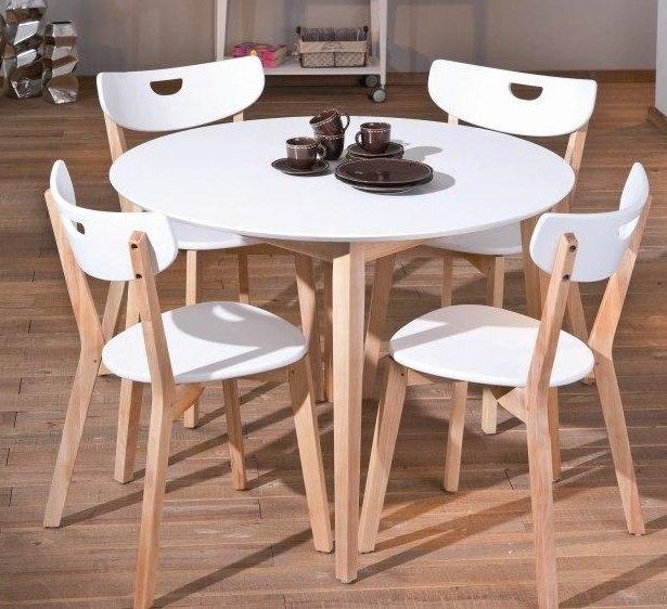 Nesto runt matbord - Vit/Ek - 1495 kr - Trendrum.se