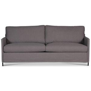 Depart 3-sits soffa loose cover - Gråbrun (Linnetyg)
