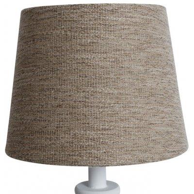 Rund lampskärm 18x23x18 cm - Natur (grovt linne)