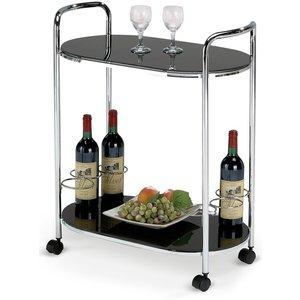Butler 3 - Drink & serveringsvagn (svart/krom)