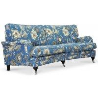 Savoy 3-sits svängd soffa med blommigt tyg - Havanna Blå
