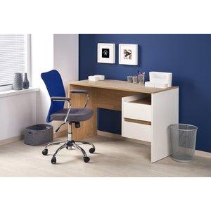 Leonard skrivbord - Ek/Vit