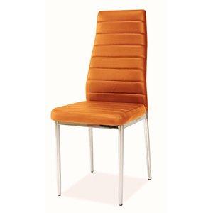 Matstol Camarillo - Orange (Sammet) / Krom