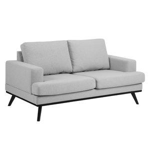 Ventura soffa 2 sits - Ljusgrå/svart