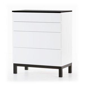 Österlen byrå med 4 lådor - vit / svart