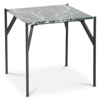 Accent soffbord 50 - Grön marmor / Svart