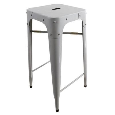 Barstol i metall - Ljusgrå