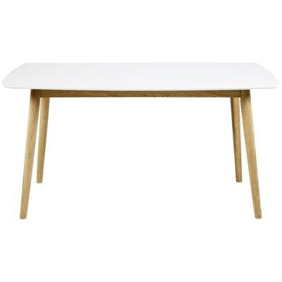 Fairfield matbord 150 cm - Vit/ek