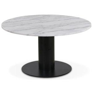Next 85 runt soffbord - Svart / marmor